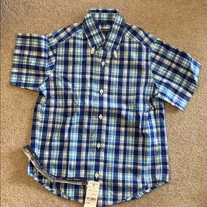 Boys short sleeve Brooks Brothers button down NWT